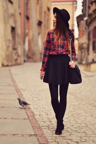 blouse shirt plaid shirt button up red flannel shirt