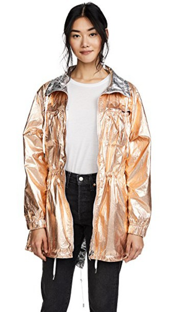 metallic rose gold rose gold coat