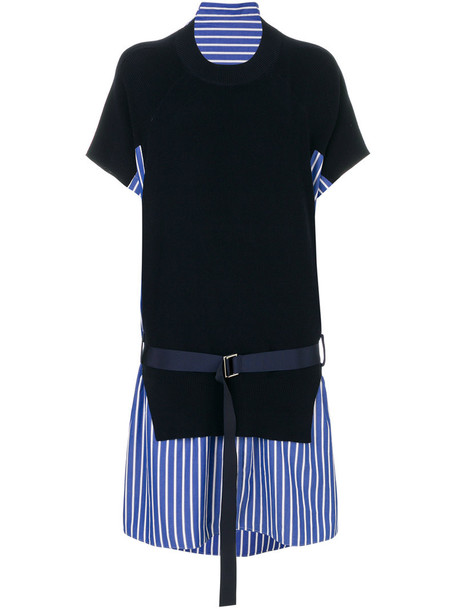 Sacai dress women cotton blue