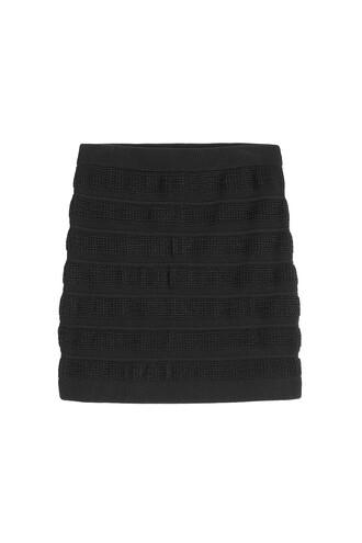 skirt mini wool black