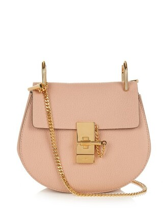 cross mini bag leather light pink light pink