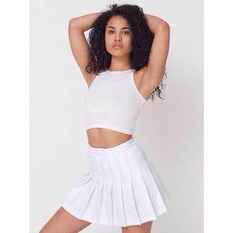 skirt white pleated skirt tennis white pleats dress tennis skirt