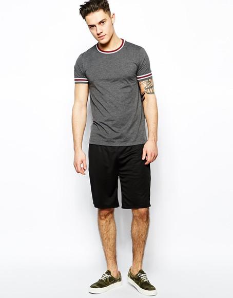 menswear mens shirt mens t-shirt t-shirt shirt polo grey river island asos nice sexy