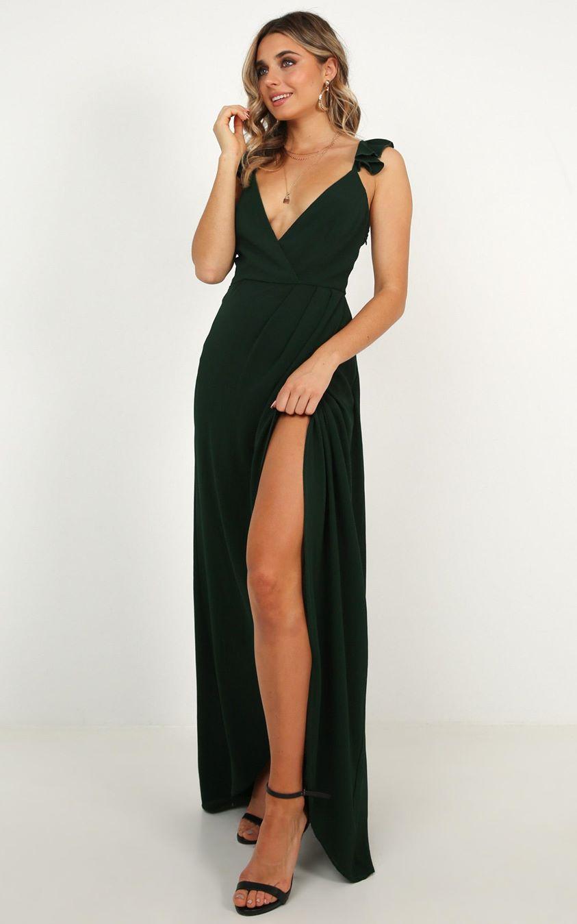 Showpo Trust Nobody Dress In Emerald - 6 (XS) Bridesmaid