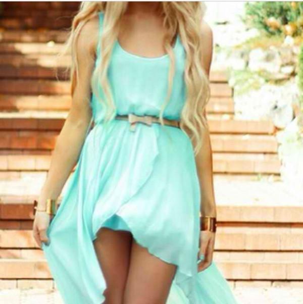 dress blue dress light blue high-low dresses