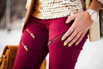 pants crimson