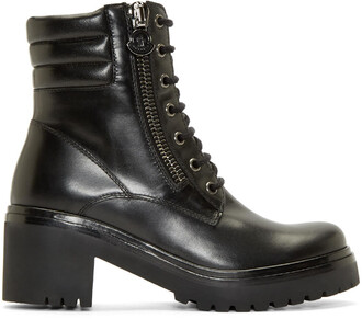 boots combat boots leather black black leather shoes