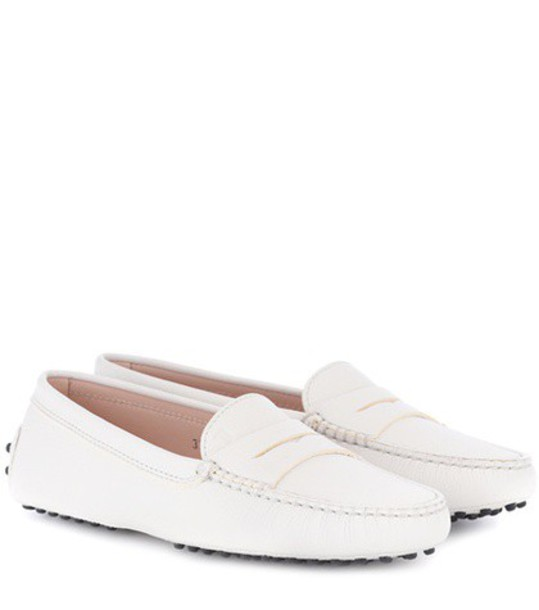 TOD'S loafers leather white shoes