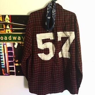 shirt 57 burgundy plaid shirt