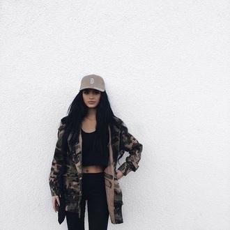 jacket camouflage black urban oversized