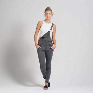cb8305311a NEW  98 Abercrombie   Fitch Womens Sloan Skinny Overalls Grey ...