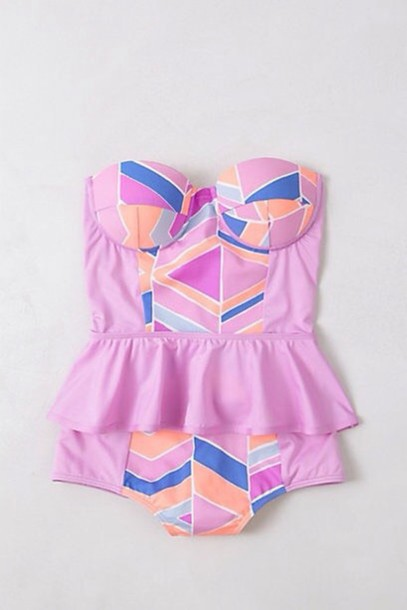 swimwear swmimwear pink swimwear printed swimsuit print