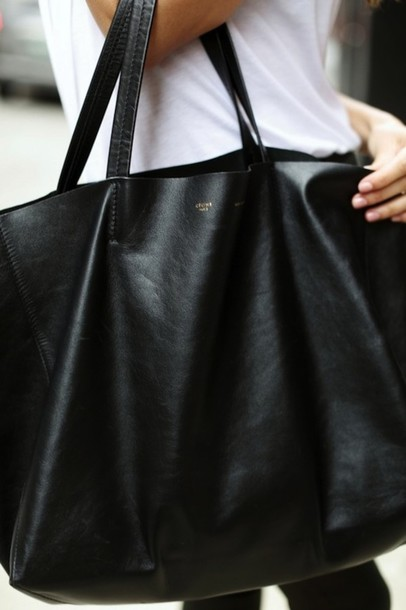 celine tasche online - Bag: celine, purse, black bag, black tote, celine bag, tote bag ...