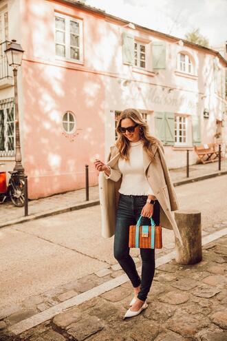 miami + dallas based lifestyle and fashion blog blogger coat t-shirt bag