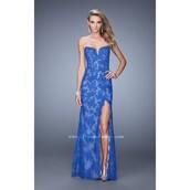 dress,prom dress,lace dress,high heels,electric blue