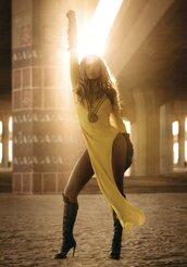 dress,beyonce,yellow