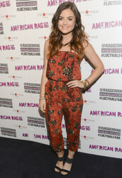 jumpsuit,lucy hale,shoes,aria montgomery,pretty little liars
