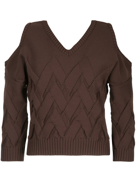 Aula jumper women cold brown sweater