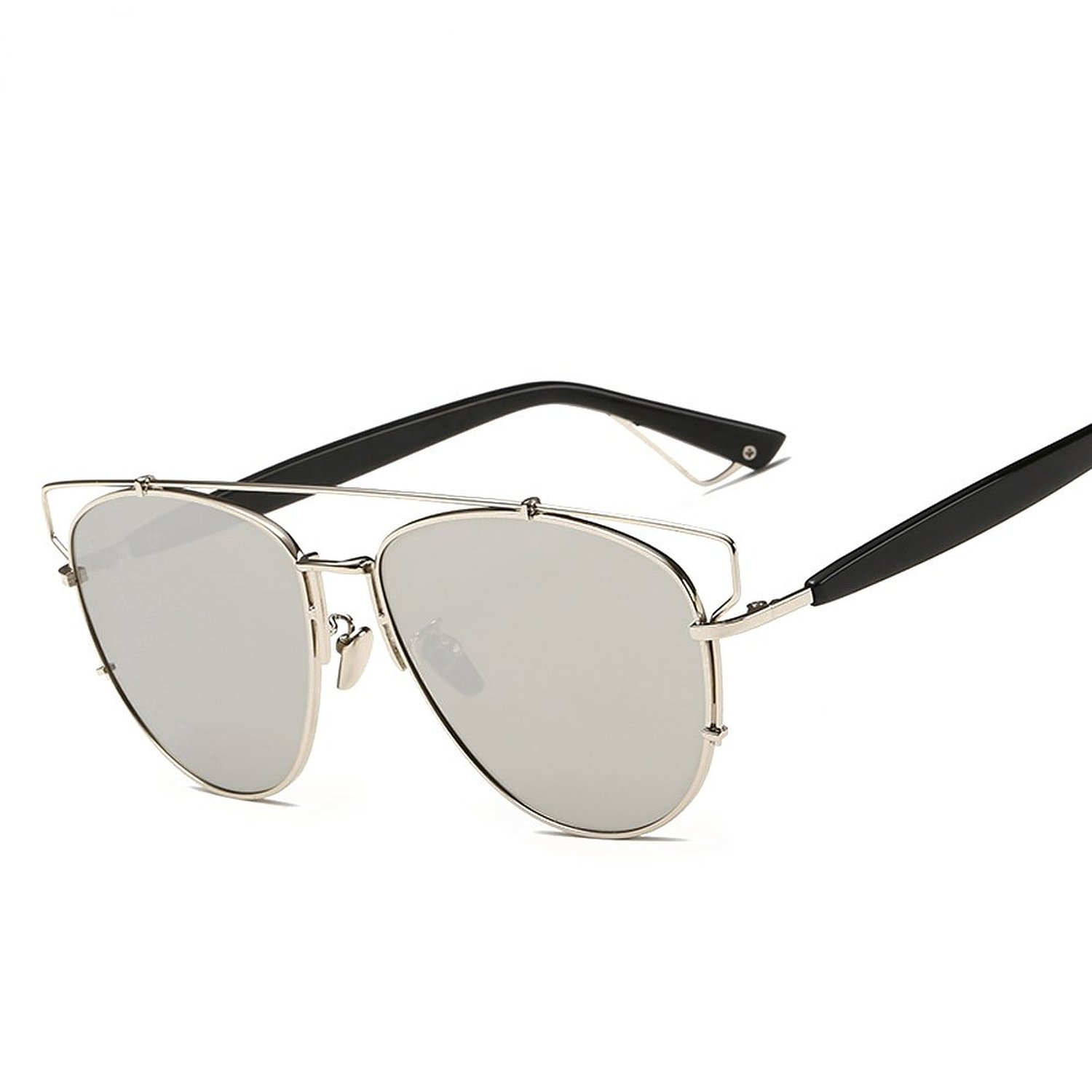 4274e5d6c7b Amazon.com  GMAT Retro Vintage Mirrored Aviator Sunglasses Metal ...