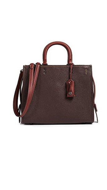 coach bag leather bag leather oxblood