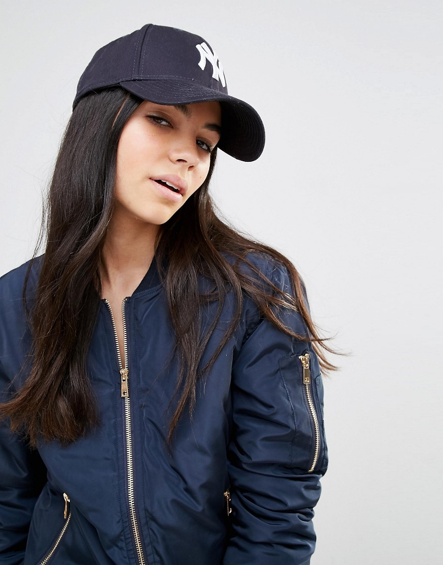 3156419556997 New Era 9Forty NY Navy Cap at asos.com