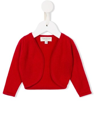 cardigan girl open toddler red sweater