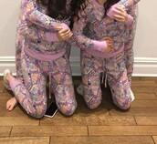 pajamas,purple,doodles,colorful