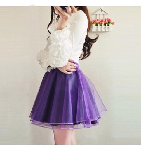 Woman fashion organza pleated chiffon skirts s011 from foreverfashion on storenvy