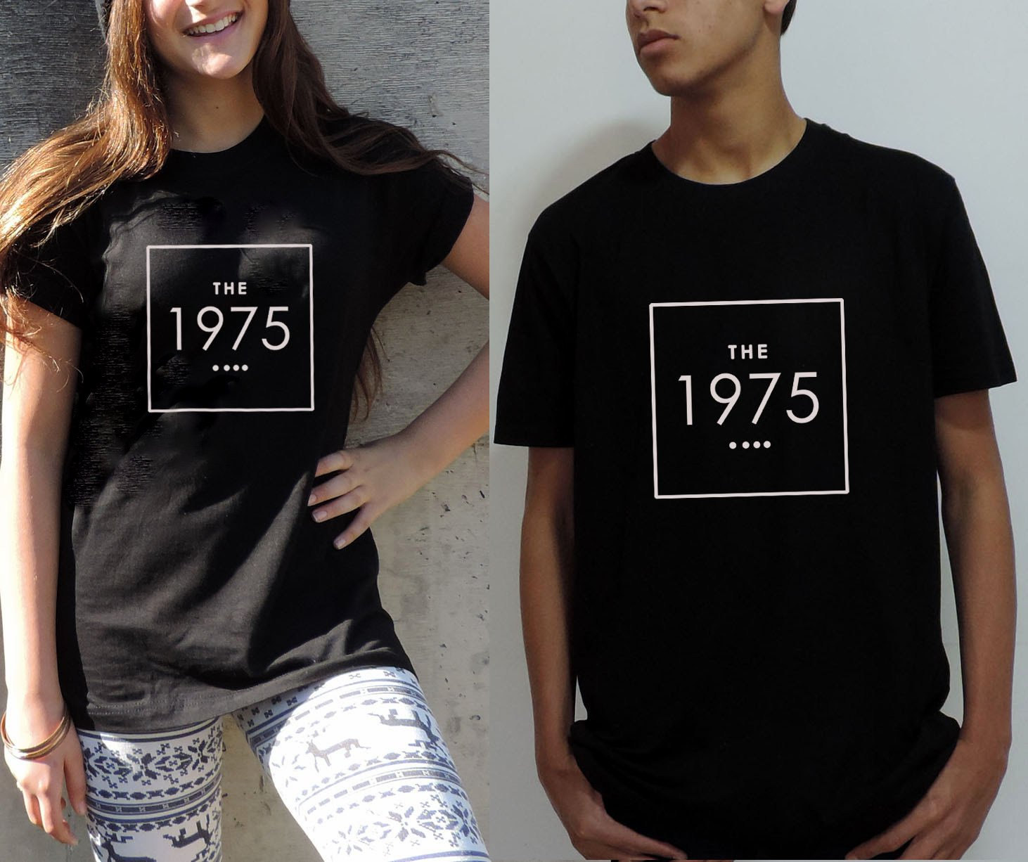 Black t shirt unisex - The 1975 Shirt In Black White And Gray T Shirt Unisex Indie Rock Hipster Clothes The 1975