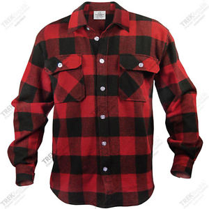 Mens Red Plaid Flannel Shirt | eBay