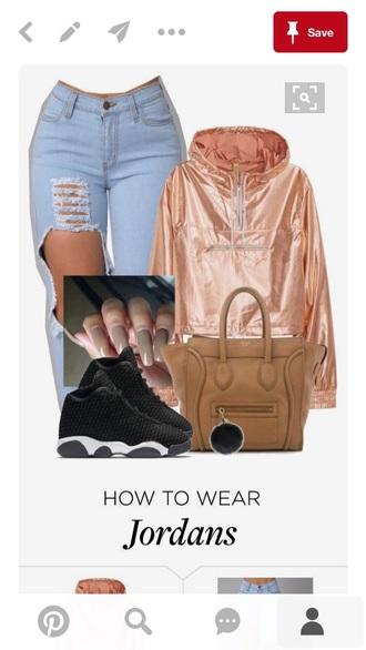 jacket pink silky windbreaker