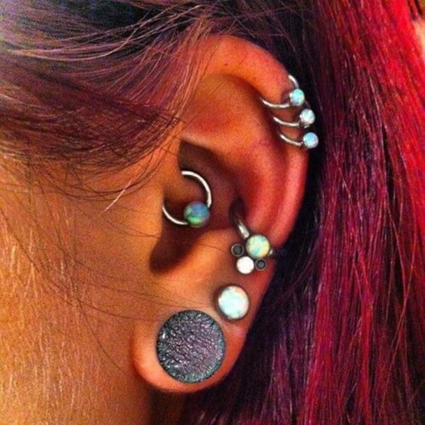 jewels tragus beaded hoop earrings