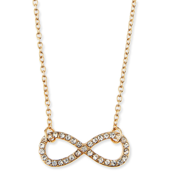 Jules Smith Infinity Charm Pave Crystal Necklace - Gold (ONE SIZE)