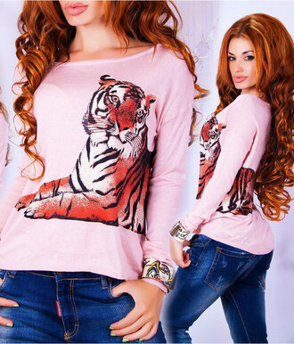 sweater zefinka 3d sweatshirts tiger print leopard print outfit outfit idea fall outfits
