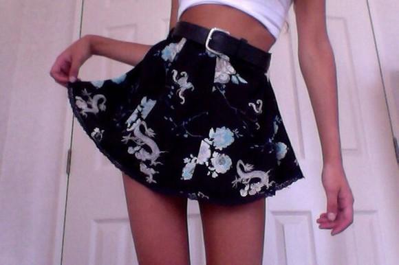 skirt black skirt black skater skirt floral tumblr suede skirt velvet skirt short skirt