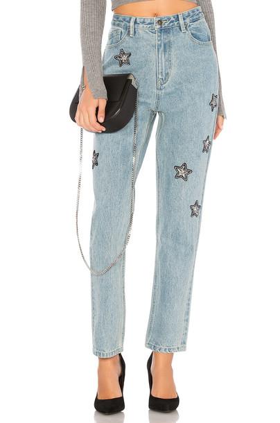 Minkpink jeans vintage light blue
