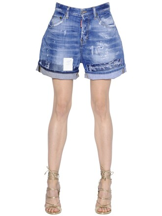 shorts denim shorts denim kawaii blue