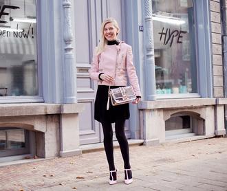 baby pink blogger cocorosa jacket studs bag plastic