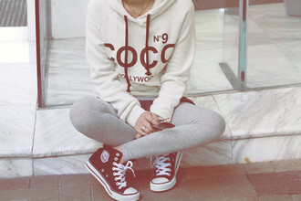 sweater oversized hoddie leggings hoodie hollywood pants converse jacket