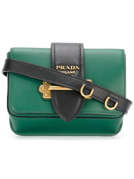 Prada belt bag women bag leather green