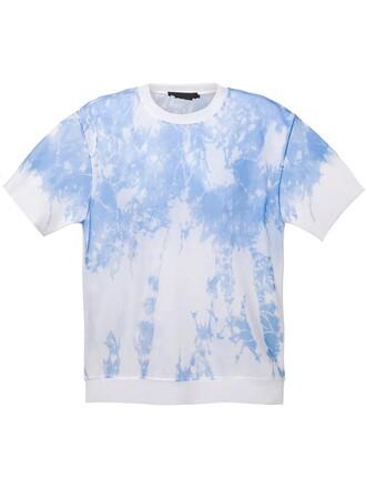t-shirt shirt sheer women blue top