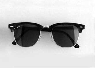 black sunnies sunglasses ray ban sunglasses ray bans raybans rayban sunglasses black cute anything similiar . summer outfits beach brand rayban silver sun clubmaster ray ban clubmaster