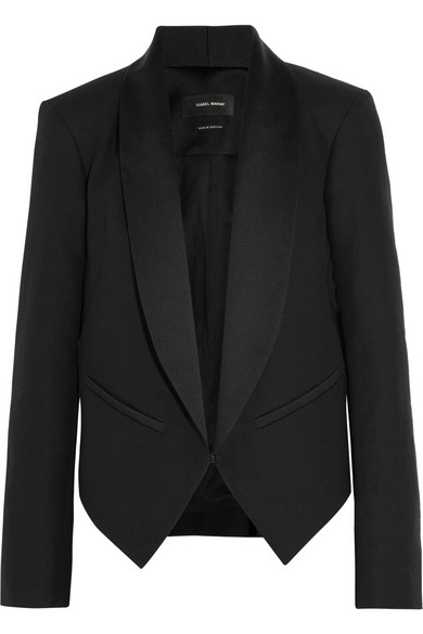 Isabel Marant | Daisy cotton-blend canvas tuxedo jacket | NET-A-PORTER.COM