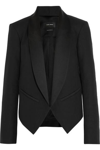 Isabel Marant|Daisy cotton-blend canvas tuxedo jacket|NET-A-PORTER.COM