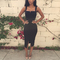 2015 sexy sleeveless club party charming celeb bandage split strap evening dress