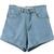 Light Blue High Waist Roll-up Denim Shorts