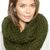 Olive Chunky Hand Knitted Snood