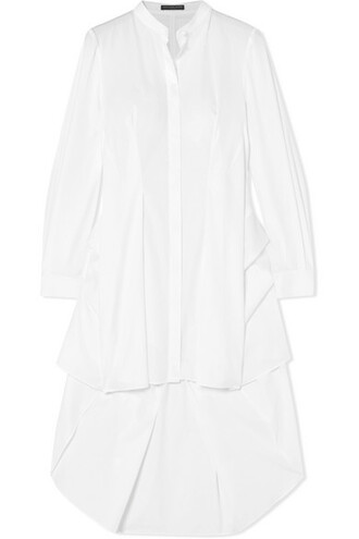 shirt draped white cotton top