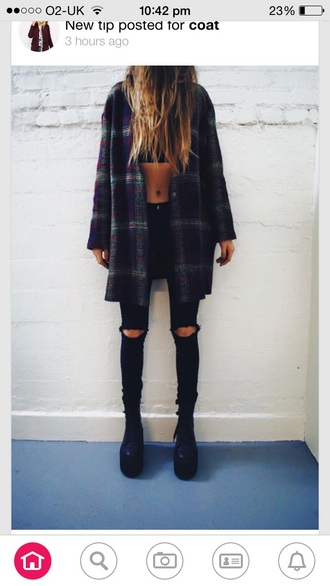 jeans black ripped skinny cardigan