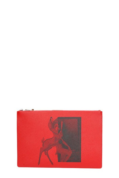 clutch red bag